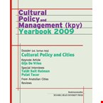 Cultural policy and management: yearbook 2009